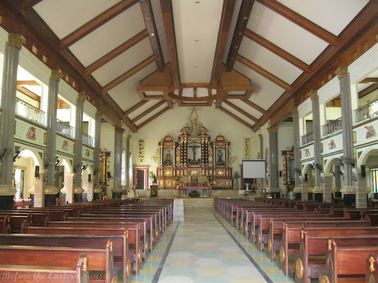 Aisle and altar of Masbate Cathedral, Bicolandia