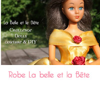 Robe la belle et la bête Barbie