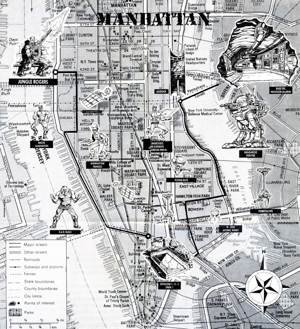 Mapa videojuego After the War - 1989