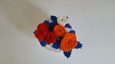 cupcake free felt pattern Kingsday gratis vilt patroon cupcake