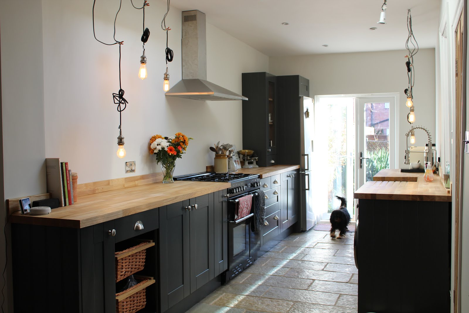 Modern Industrial Dark Grey Kitchen