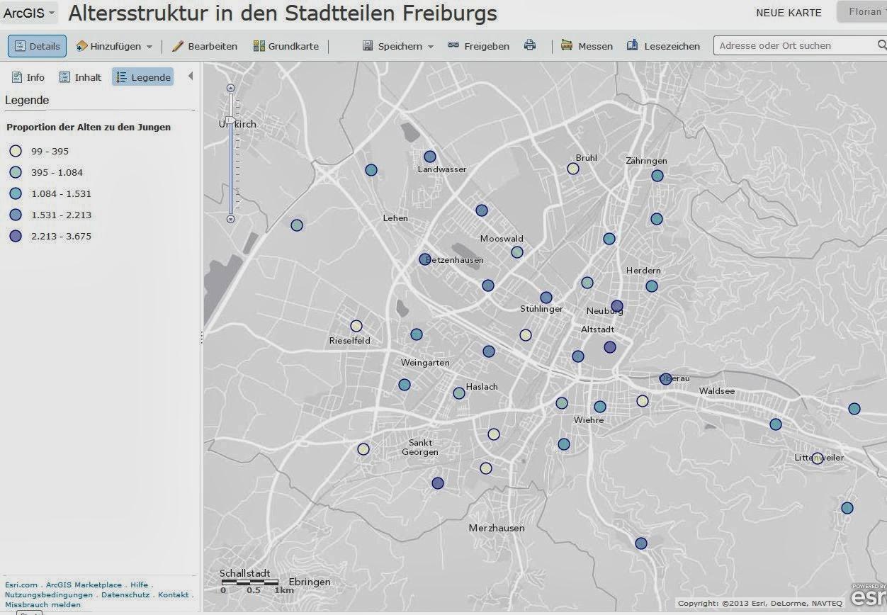Freiburg Karte Stadtteile.Digitale Geographie November 2013
