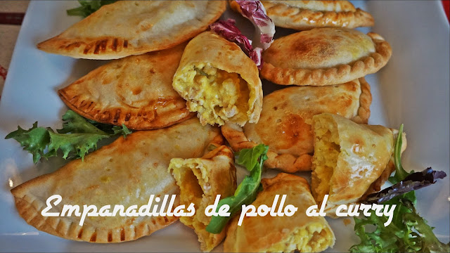 como hacer empanadillas de pollo y curry