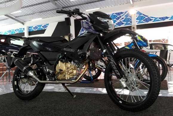 Modifikasi Motor Suzuki Satria F150 FI 2016 Rasa Lumpur