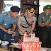 KOMPAK DAN BERSINERGI, TNI CILACAP BERIKAN KUE DAN TUMPENG HUT BHAYANGKARA KE 72