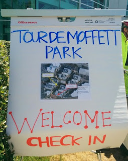 Tour de Moffett Park sign, Sunnyvale, California