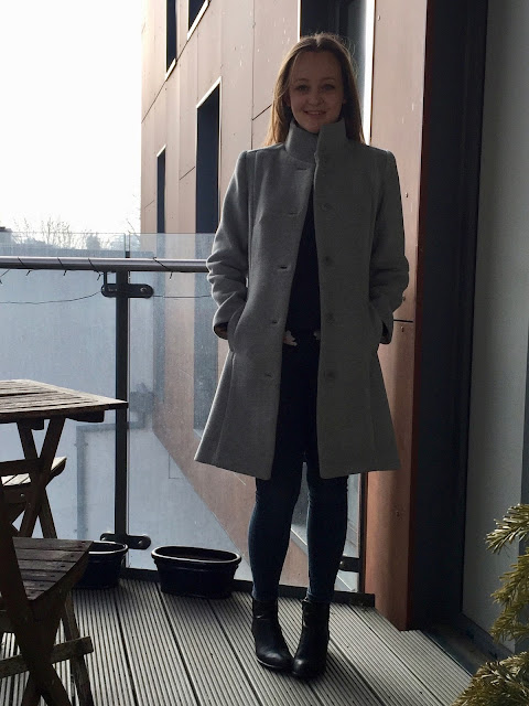Diary of a Chain Stitcher: Butterick B6385 Coat in Grey Burberry Coating