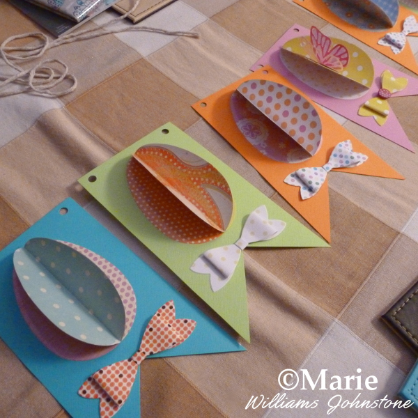Putting Your Easter Egg Banner Bunting Together