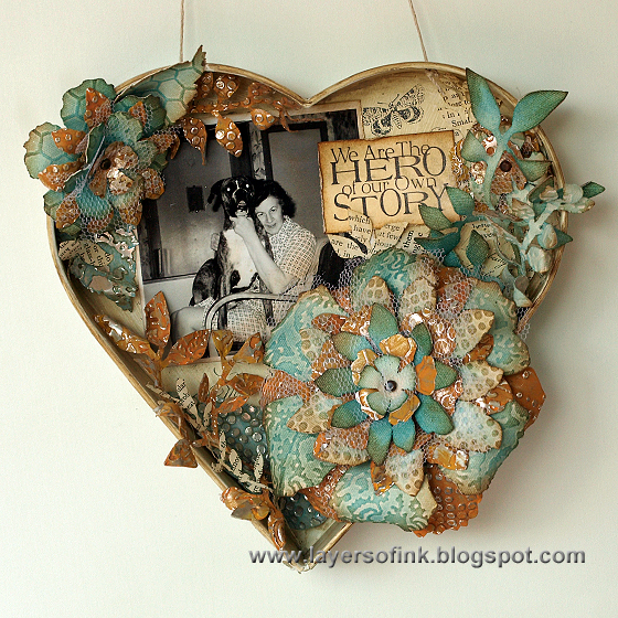 Jumbo Tattered Florals Shadow Box - Layers of ink