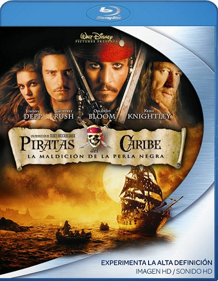 Pirates of The Caribbean: Curse of The Black Pearl (Piratas del Caribe La Maldicion del Perla Negra) (2003) 720p y 1080p BDRip mkv Dual Audio AC3 5.1 ch