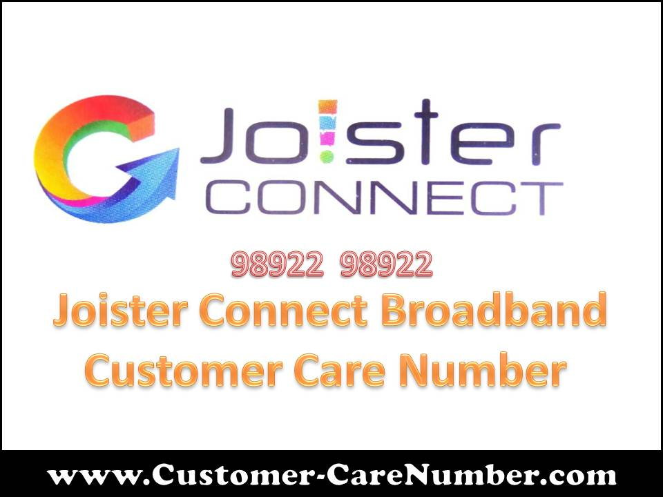 Joister Connect Broadband Customer Care Number