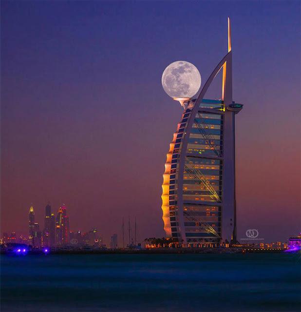 The supermoon Shot In Dubai