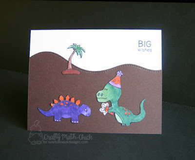 Dinosaur Birthday Card by Crafty Math Chick | Prehistoric Pals & Fetching Friendship stamp sets by Newton's Nook Designs