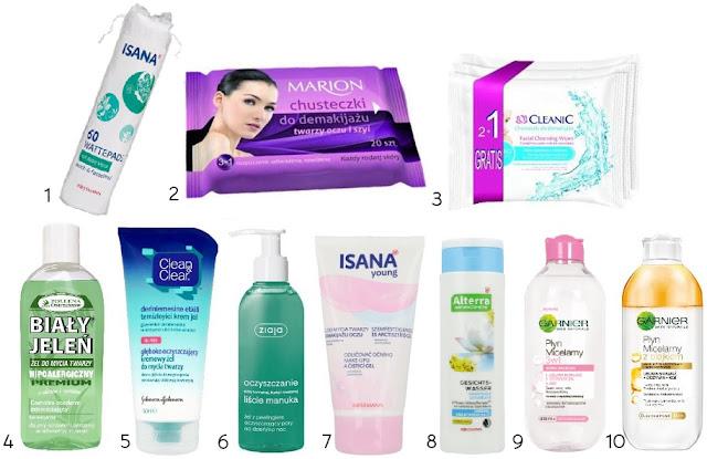 niedrogie kosmetyki do demakijażu, tanie produkty do oczyszczania twarzy,