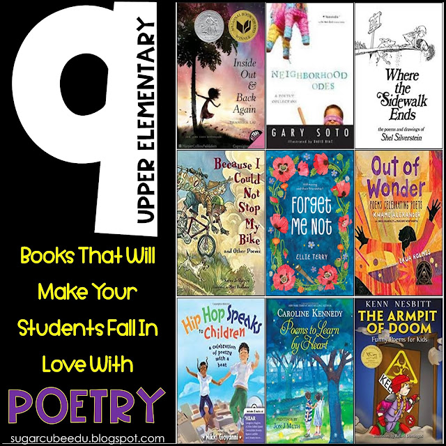 photo of 9 Upper Elementary Books That Will Make Your Students Fall In Love With Poetry: sugarcubeedu.blogspot.com