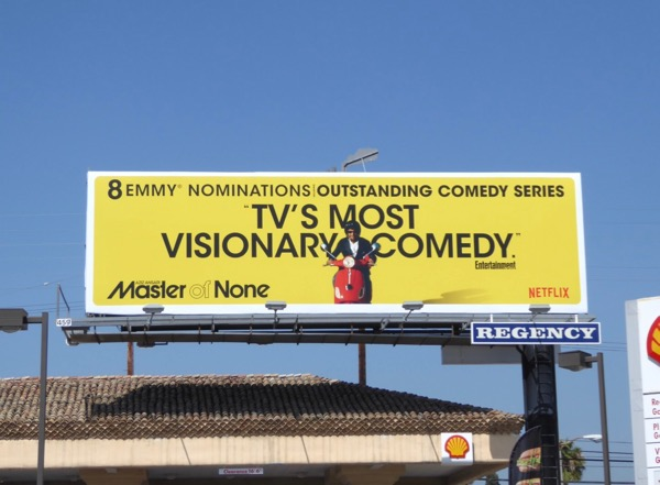 Master of None visionary comedy Emmy billboard