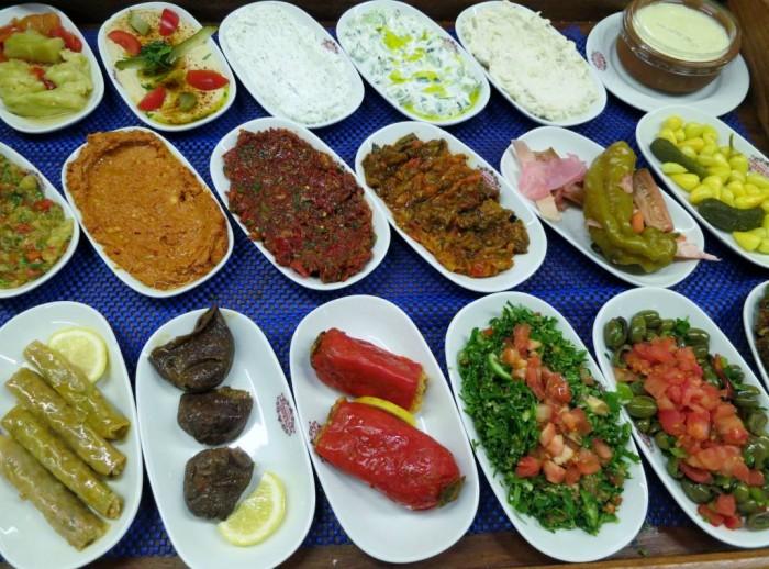 Scrumptious Turkish mezze feast in Istanbul
