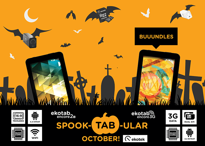 Avail SpookTABular Promo By Ekotek This October 15 To 31, 2015!