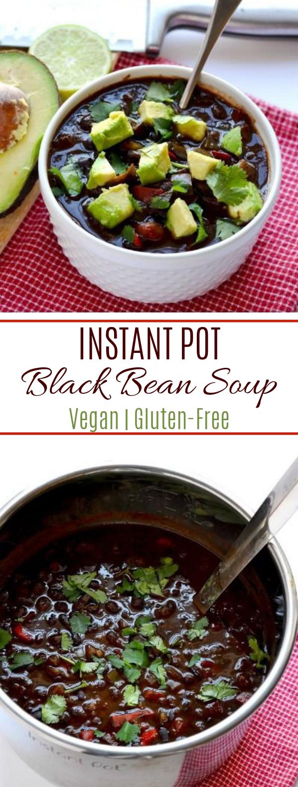 Instant Pot Black Bean Soup #Vegan #Gluten-Free
