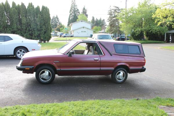low mileage 1986 subaru brat for sale 4x4 63k miles. Black Bedroom Furniture Sets. Home Design Ideas