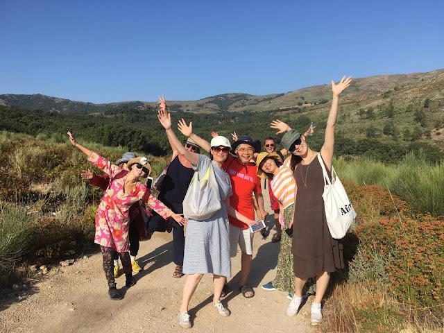 2019年夏のスペインのトレーニングに参加した日本のアルーンフレンズの皆さんの写真