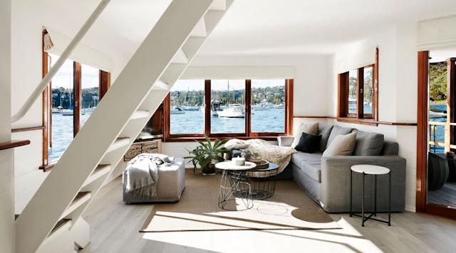 casa flotante en el puerto de Sydney chicanddeco
