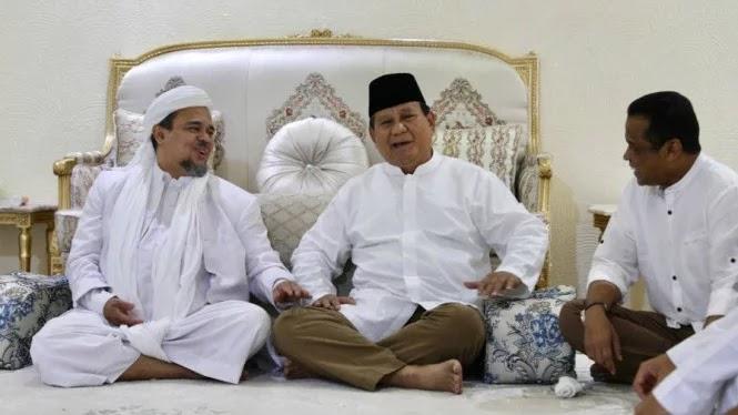 Alasan Habib Rizieq Menyebut Deklarasi Prabowo Sebagai Pemenang Itu Logis