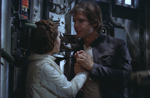 relationship between han solo and princess leia