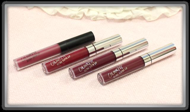 Colourpop ulta matte satin glossy lip bundle can you knot hutch sookie notion wink haul review blog beauty dark liquid lipstick