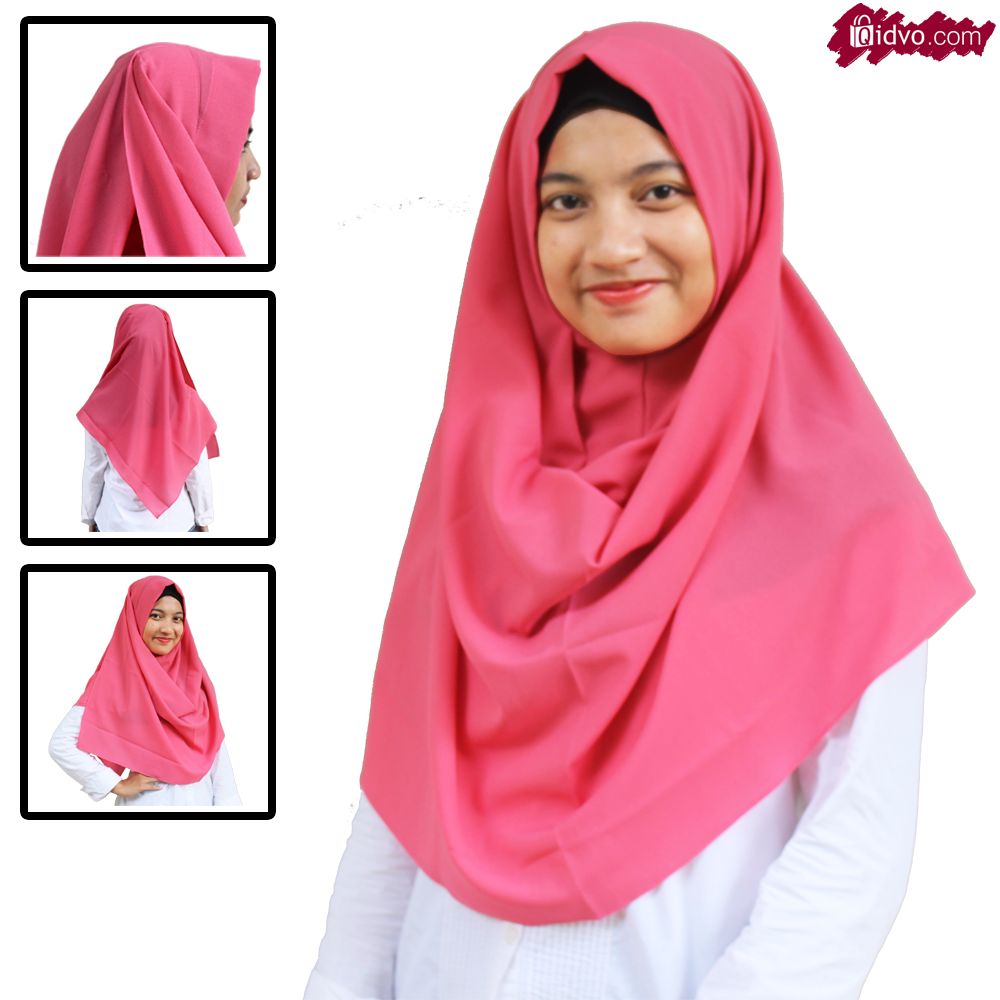 Hijab Kerudung Jilbab Pashmina Instan Jasmine | Merah Coklat Hitam Kuning Ungu Hijau Pink