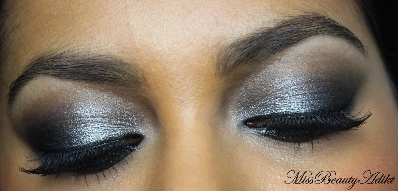 M I S S B E A U T Y A D I K T Silver Black Eid Eye Makeup Tutorial