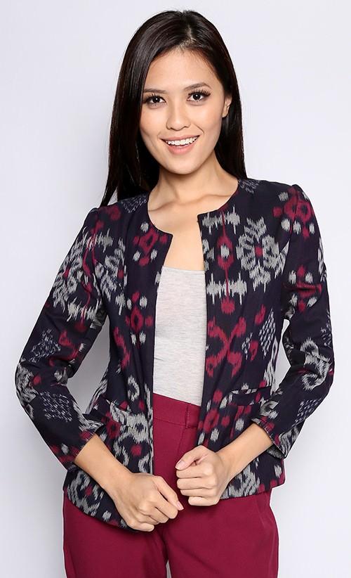 Baju Tenun model dress batik pesta model atasan tenun model batik ...