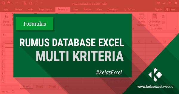 Rumus Database Excel Dengan Multi Kriteria