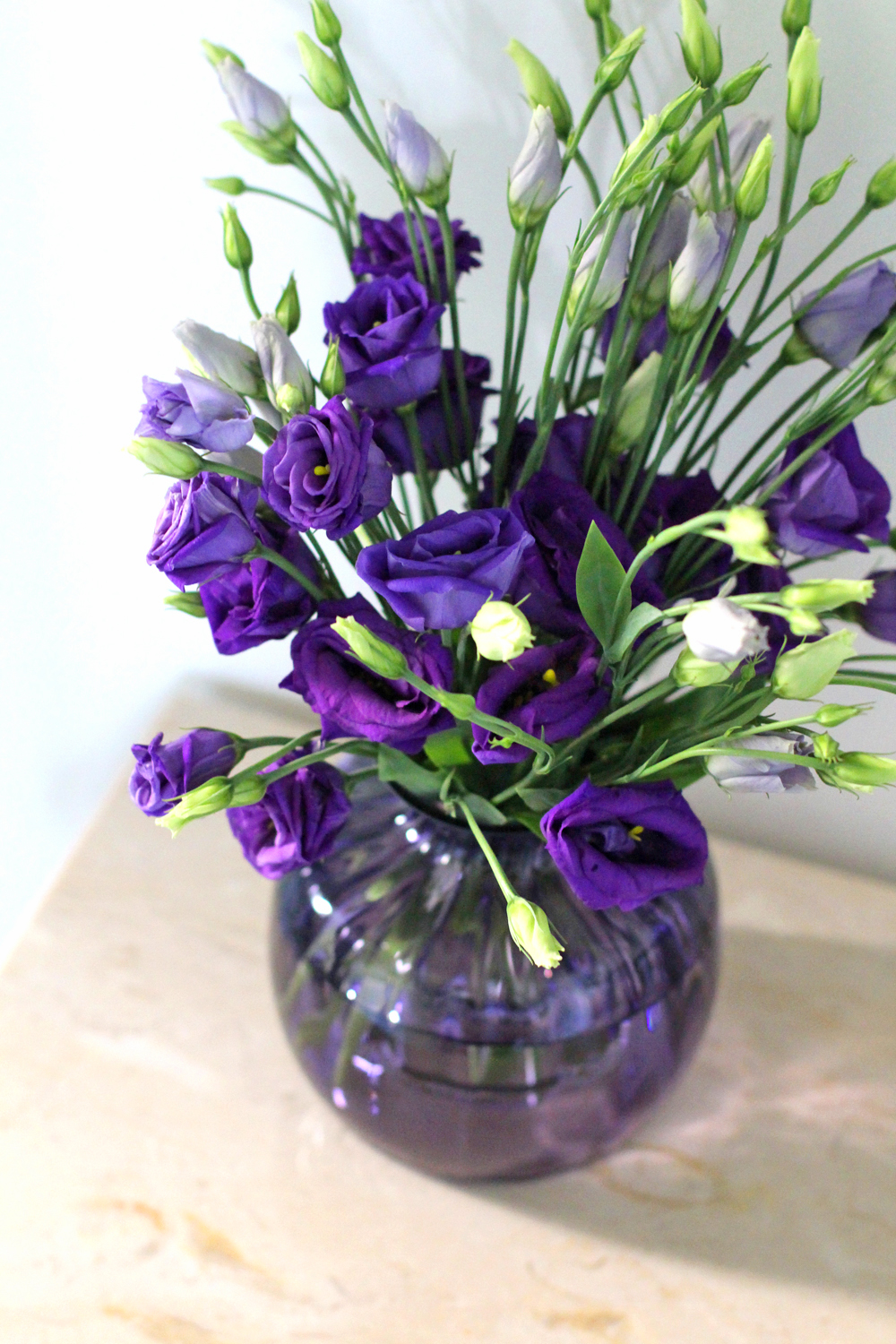 Dartington Crystal purple vase - UK style & interiors blog