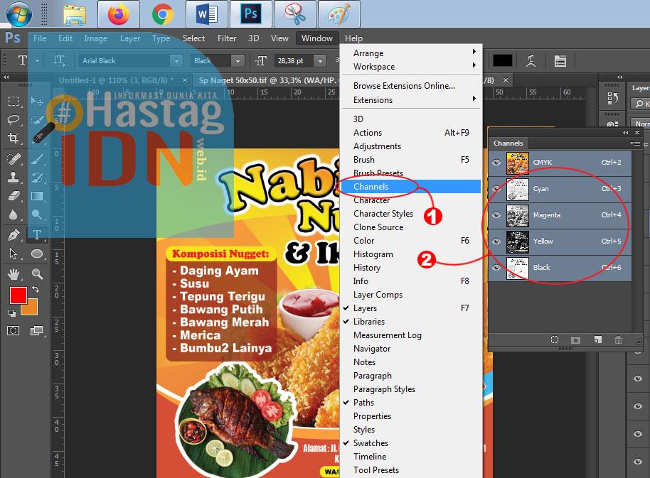 Cara Aktifikn Channel di Photoshop