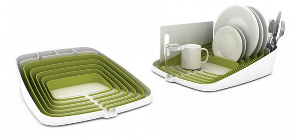 Joseph Joseph Arena Self-Draining Dishrack White and Green