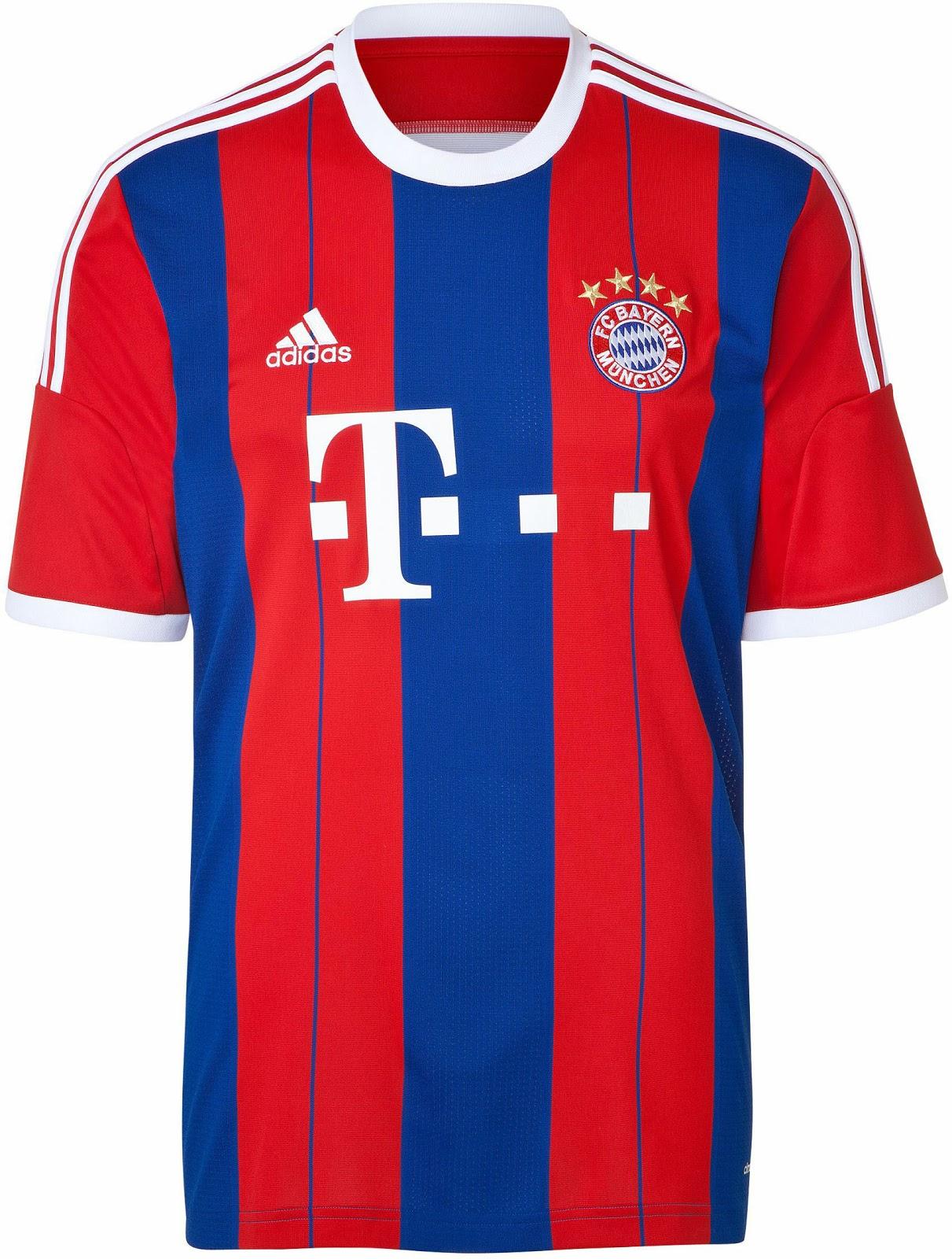 new arrival bb035 b9881 FlagWigs: FC Bayern München Home Jersey Shirt Kit 2014 2015 ...