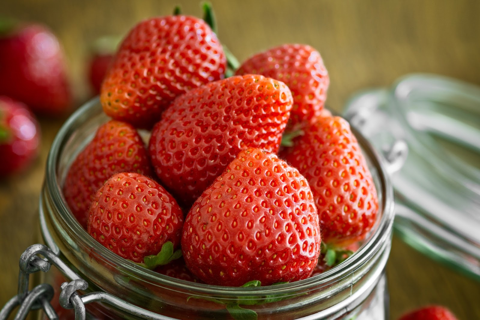 Strawberries in a kilner jar