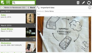 Evernote app for BlackBerry PlayBook released