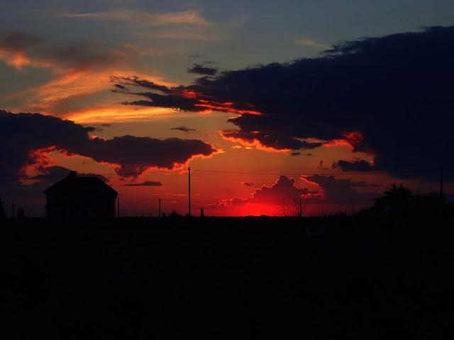 Zachód słońca na ukraińskim wybrzeżu