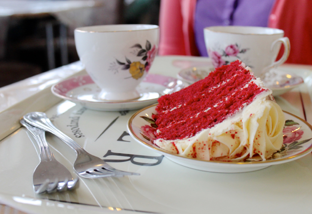 Afternoon tea at Vintage Carnival 2016