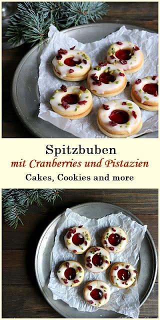 Rezept für Cranberry Spitzbuben mit Pistazien