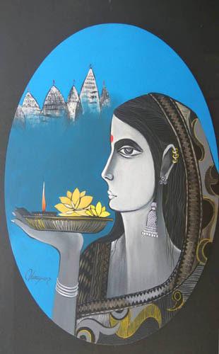 """""""paintings by Vinay Bagde at Pradarshak"""""""