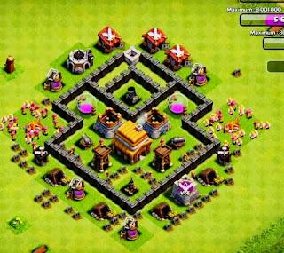 Base Coc Th 4 Anti Bintang 3 7