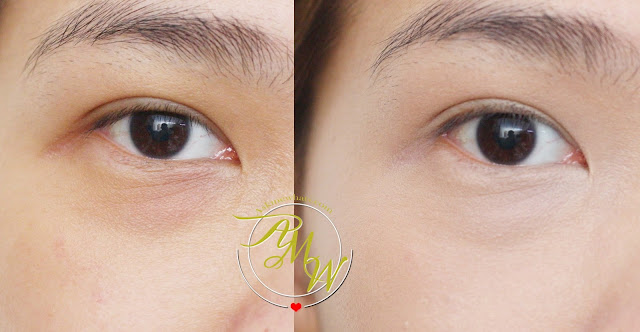 a photo of before and after using Etude House Big Cover Cushion Concealer Spf30/Pa++ Sand