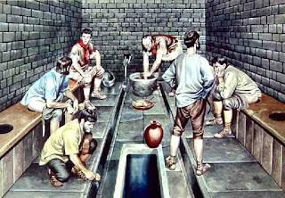Roman toilet latrine