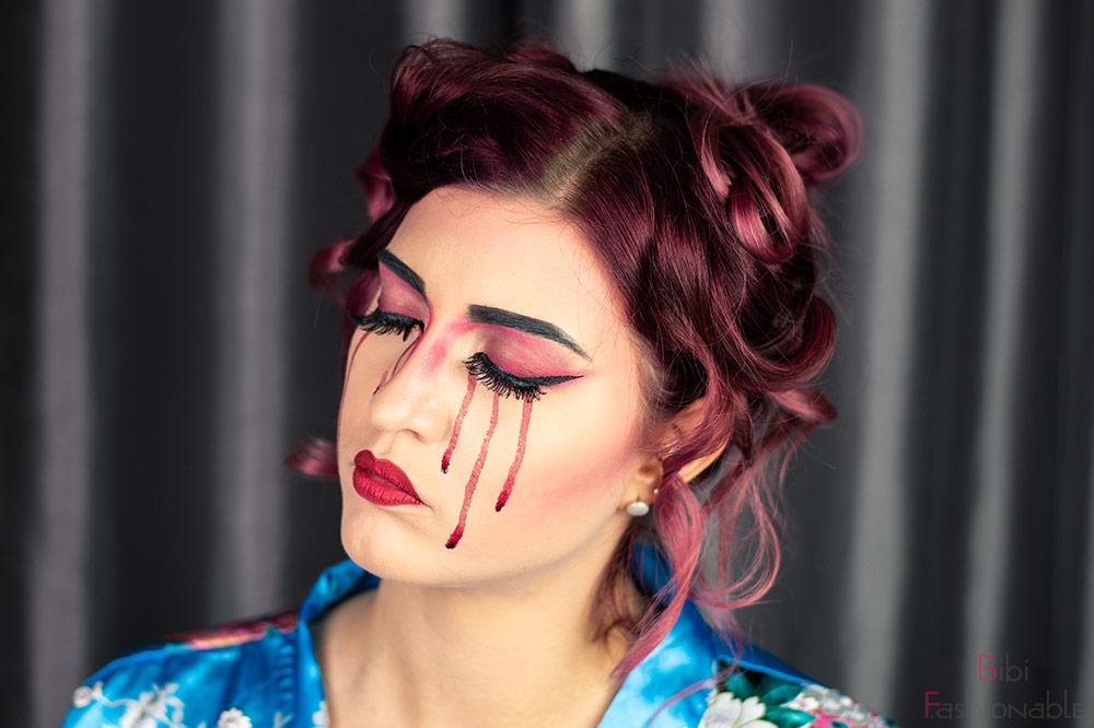 bloody Geisha Augen geschlossen