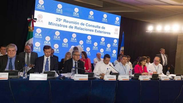 Cancilleres de la OEA no logran consenso para aprobar resolución sobre crisis en Venezuela