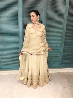 Actress Gauahar Khan in Rashi Kapoor outfit