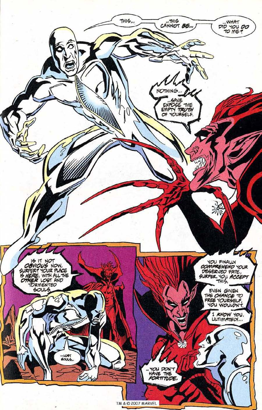 Read online Silver Surfer (1987) comic -  Issue #100 - 33